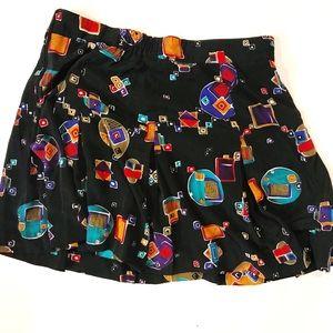 Pleated Vintage High Waisted Mini Skirt